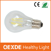 Factory Hot Sale Super Bright globe bulb light led cob edison bulb led filament e14 and b22