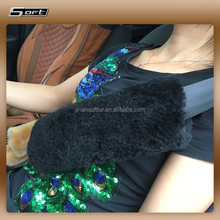 leather fur wool auto car safety seat belt cover