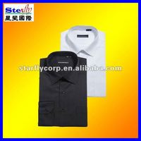 Classic styles black white long sleeve solid color shirts (ST-SH67)