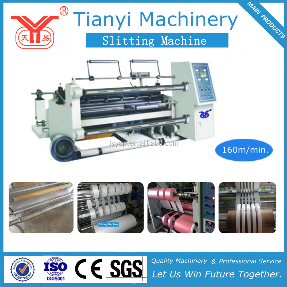 Plastic Film /Paper/Tape Slitting and Rewinding Machine