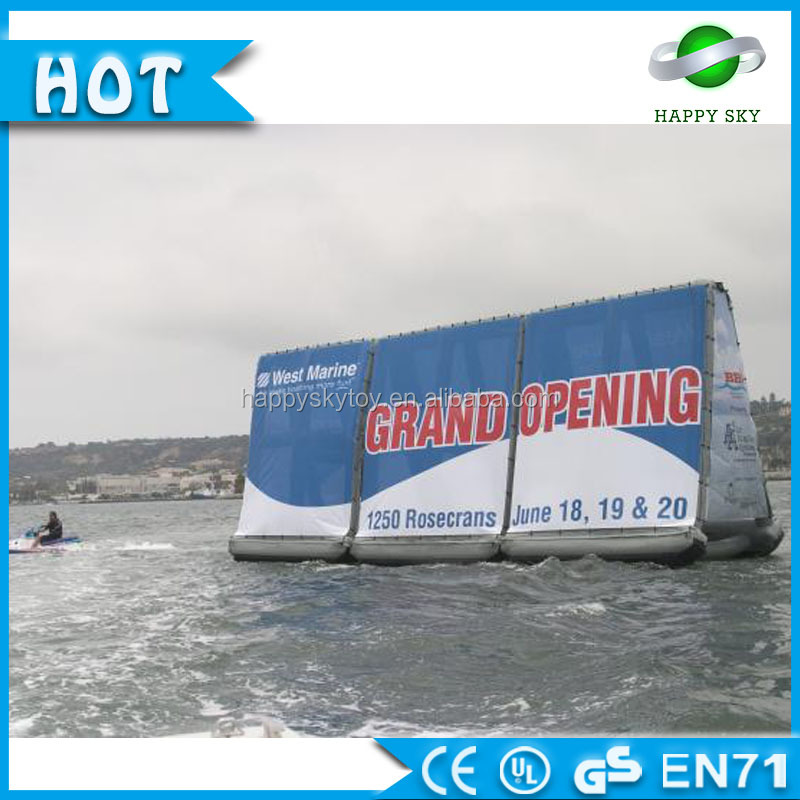 High quality water floating inflatable billboard,illuminated sign,used billboard signs sale