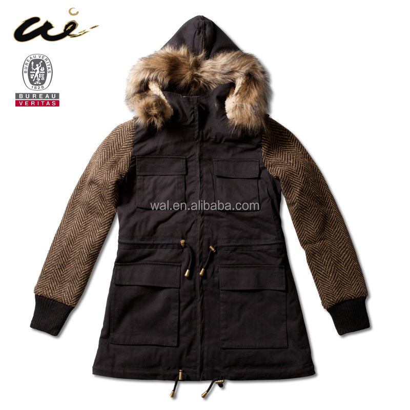 wholesale Ladies' hooded jackets;leather clothes for women;women wear;