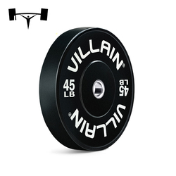 High Quality Economic Fitness Black Rubber Bumper Plates