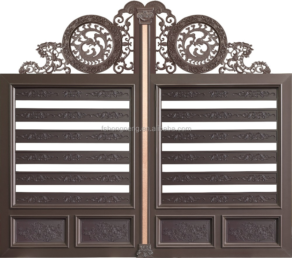 Latest Aluminum Apartment Entrance Metal Sliding Main Gate Design for Sale