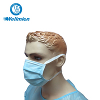Disposable Medical Non-woven 3 ply Surgical Full Face Mask