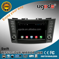 U9 android 7inch 2 din car multimedia player for Suzuki Swift with 3g/wifi/mirror link