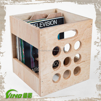 Retail DVD Display Stands, Record Album Frame , Wooden Storage Crate