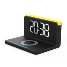 QI wireless LED alarm clock charging