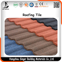 Color Stone Chip Coated Metal Roof Tiles Manufacturer