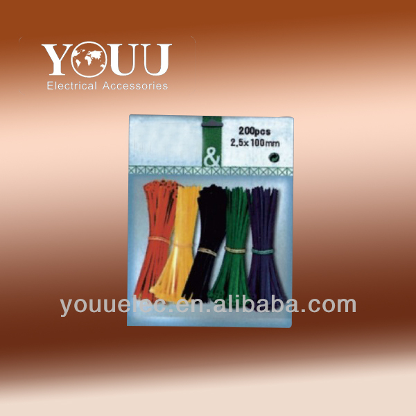 Nylon and rubber cable tie