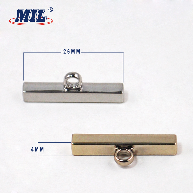 Light gold flat one hole shank buttons for shirts