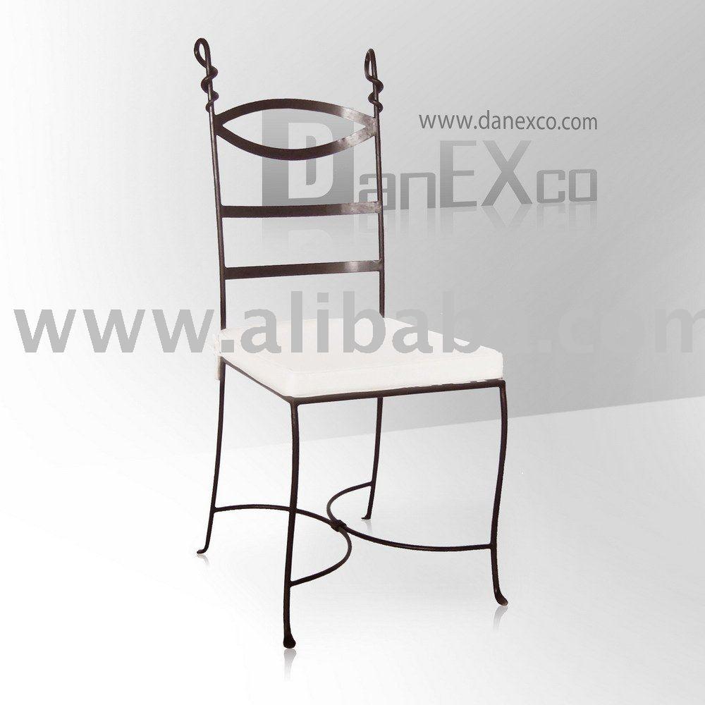 Hierro silla con coj n sillas de metal identificaci n del - Sillas de hierro ...