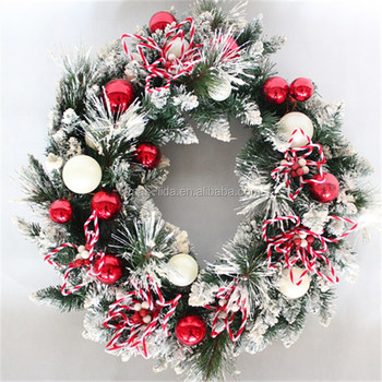 "24"" decorative Spring Wreaths with fruit flower and ribbon"