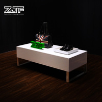 ZJF White customized table top display rack Retail sale table