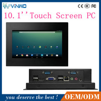 10.1 Inch X86 4*USB 4*COM Industrial Touch Screen Mini Panel PC / Industrial PC Case