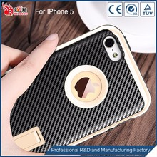 Oem welcome carbon fiber phone case fell for iphone5