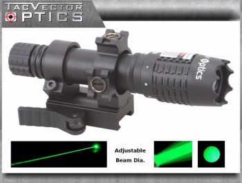 Vector Optics Magnus Green Laser Flashlight Designator Adjustable Focus Sight Illuminator Torch for the Night Hunting Tactical