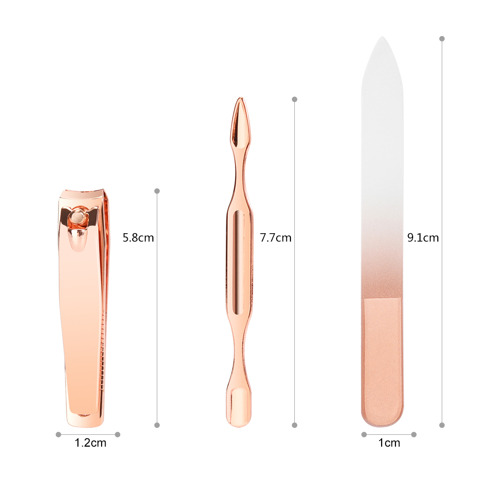 Korea Souvenir 5 pcs Rose Gold Manicure Pedicure Set Professionele