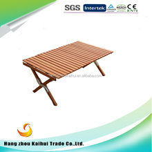 Wooden camping table wooden folding table for camping