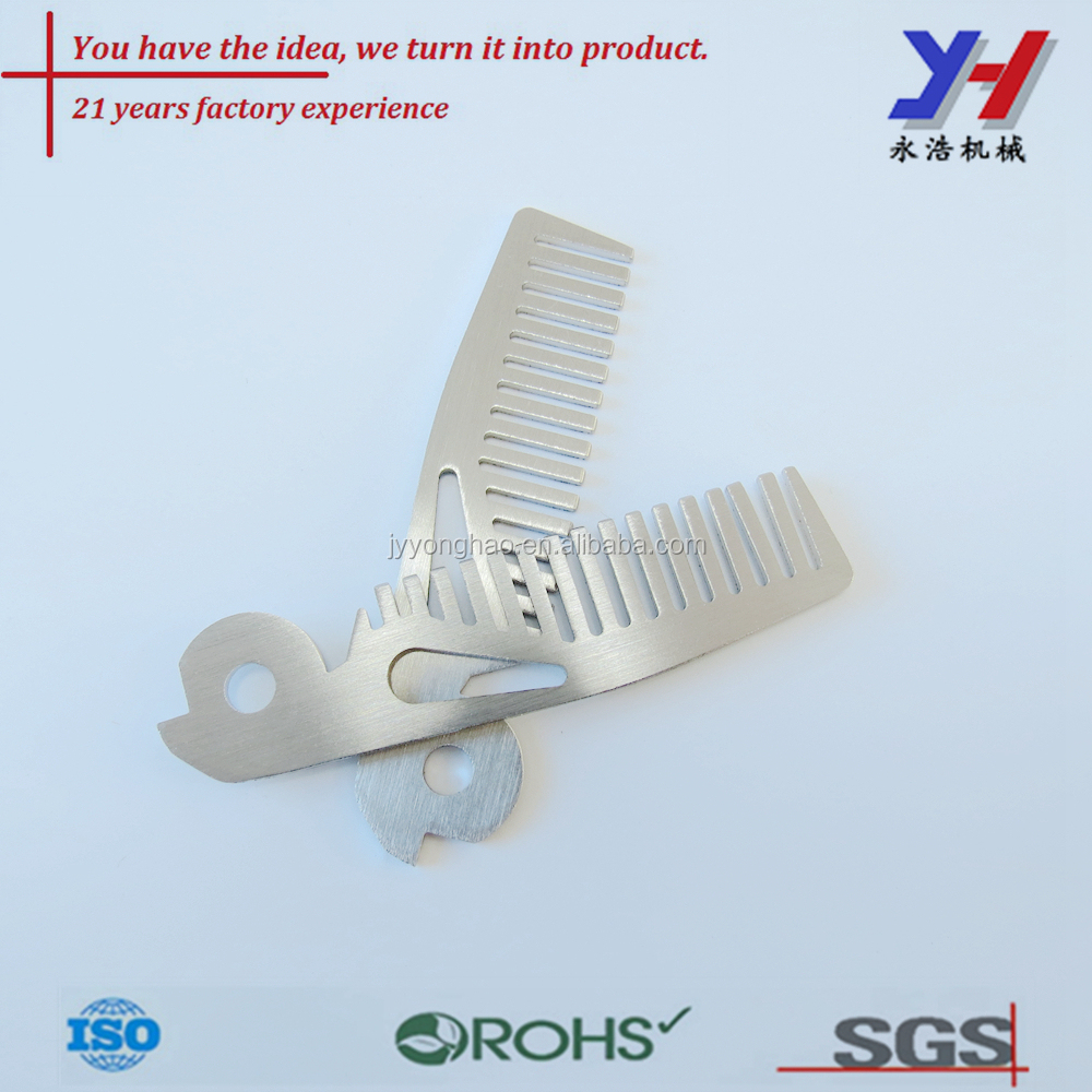 OEM ODM customized Stainless steel small wide tooth pet comb
