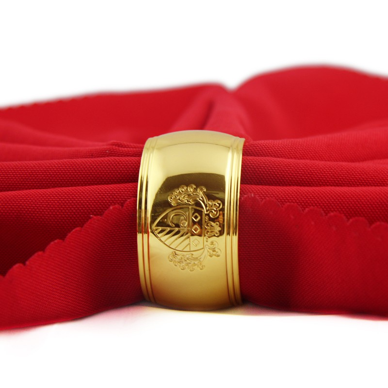 promotion gift gold napkin ring