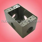 "junction box ip65 for outdoor wet location with die cast aluminum 4-9/16"" H X 2-13/16"" W"