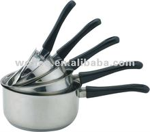 5pcs Stainless steel induction heating cookwares