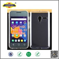 2015 Hot Selling Outside Glossy TPU Gel silicon Cover Case for Alcatel OT-4013X One Touch Pixi 3 4.0