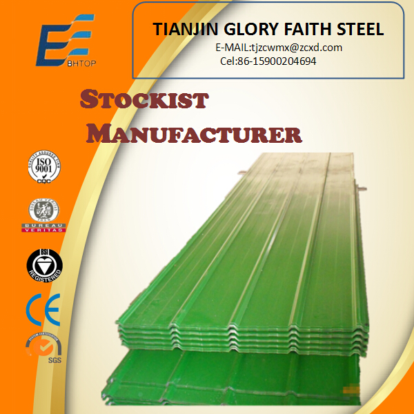 colour painting galvanized corrugated metal roofing sheet