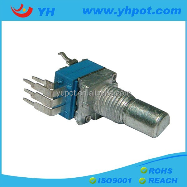 jiangsu 9mm dual gang rotary a20k vertical potentiometer without switch