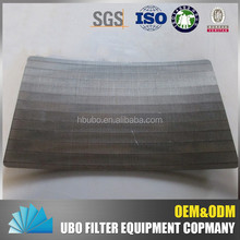 Wedge wire supplier rotary strainer sieve bend screen flat panel