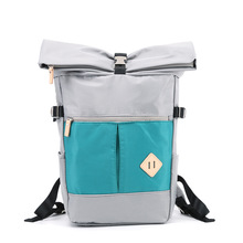 "New Design Foldable Big Storage Couple Bags Roll Top 15"" Laptop Backpack Bag 100% Polyester"