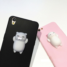 Creative abreaction knead mobile phone shell cute animals protect phone case