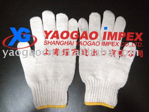 cotton knitting working gloves