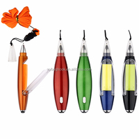 Hot sell plastic led light ball pen with sticky notes