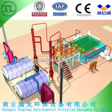 Latest high-output used tire recyling machine to crude oil, carbon black and steel with CE,BV and ISO