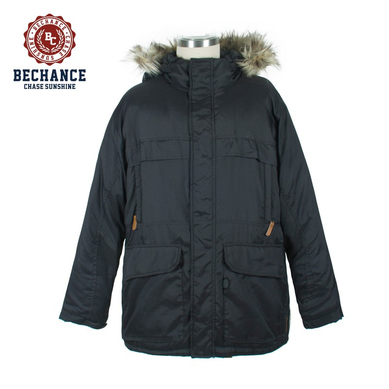 M1118 faux fur hooded mountain mens parka