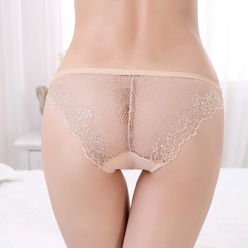 Breathable Transparent Lace Sexy young girls Seamless panties