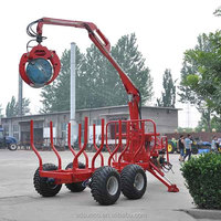 ce certificate log trailer with crane for agriculture tractor use ZM5004