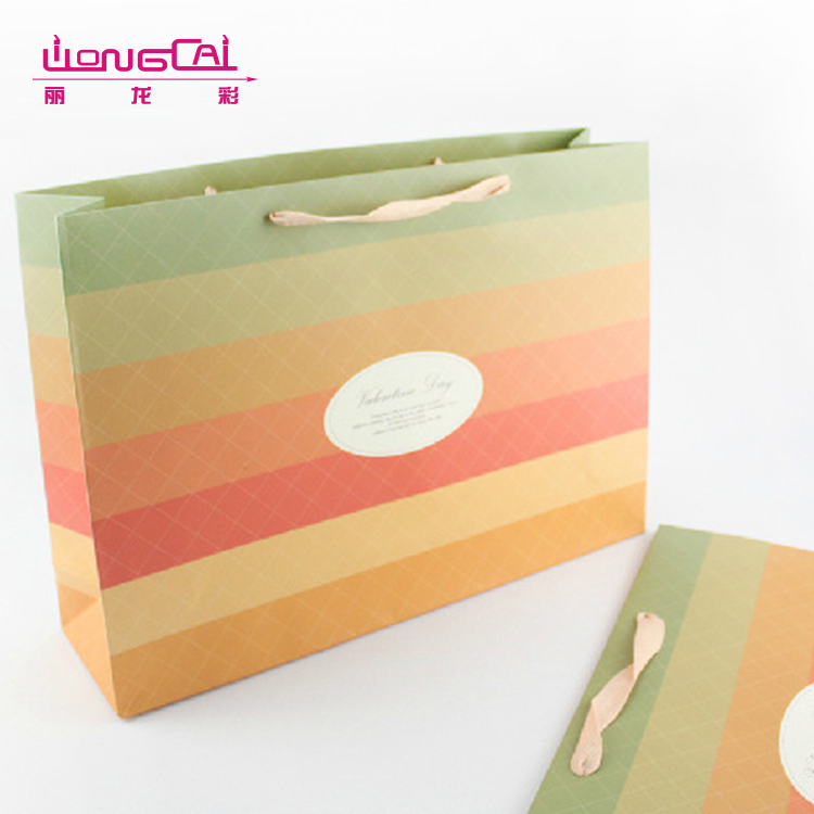 Recycled luxury wedding candy handcraft advertisement gift packing party paper bag