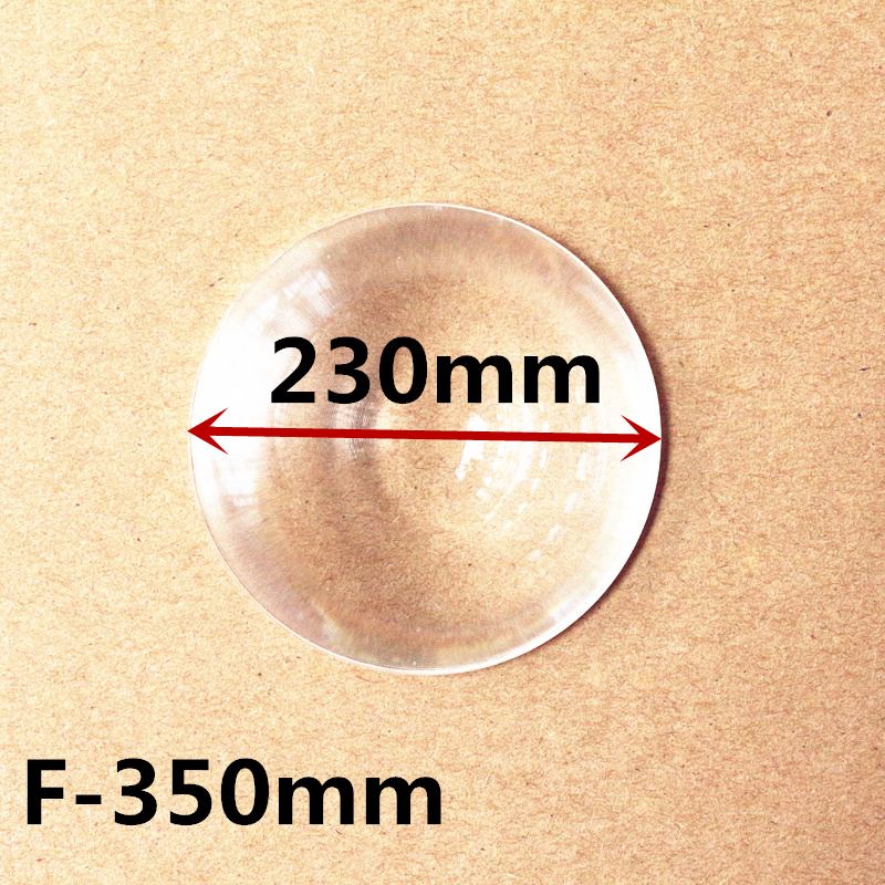 Round Optical PMMA Plastic Car Parking Wide Angle Fresnel Lens Large Diameter 230 mm Focal Length -350mm Minifier Lens
