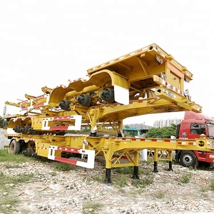 Multi Axle 20ft 40ft Container Transportation Skeleton Truck Semi Trailer