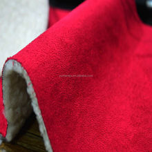 Free sample polyester sherpa suede fabric for winter jacket
