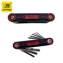 Hot new products 6 in1 Multiple use portable flat head hexkey foldable tools screwdriver set