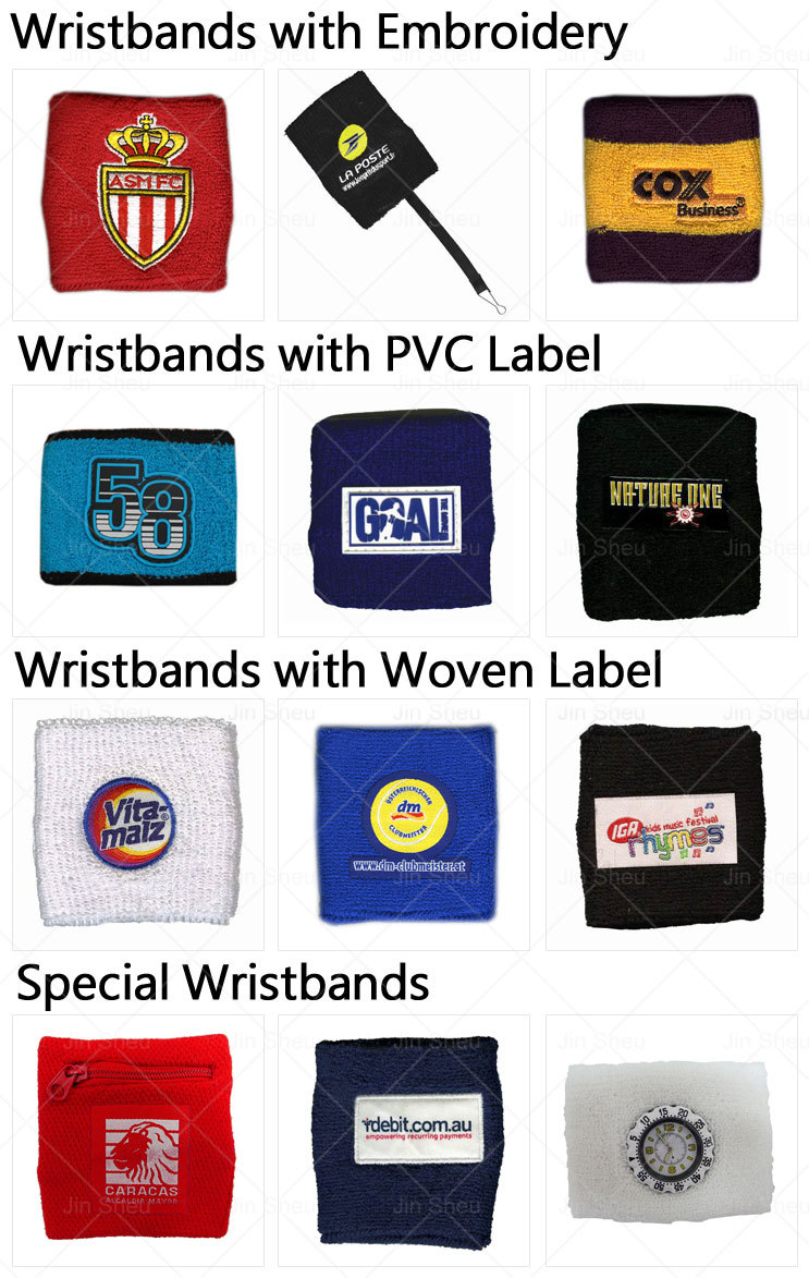 Manufacturer cheap plain cotton country flag sweatbands