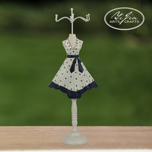 Polka Dot Wooden Mannequin Doll Painting For Jewelry Necklace Display