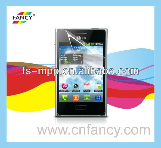 2013 hot sell screen protector film for LG-E400