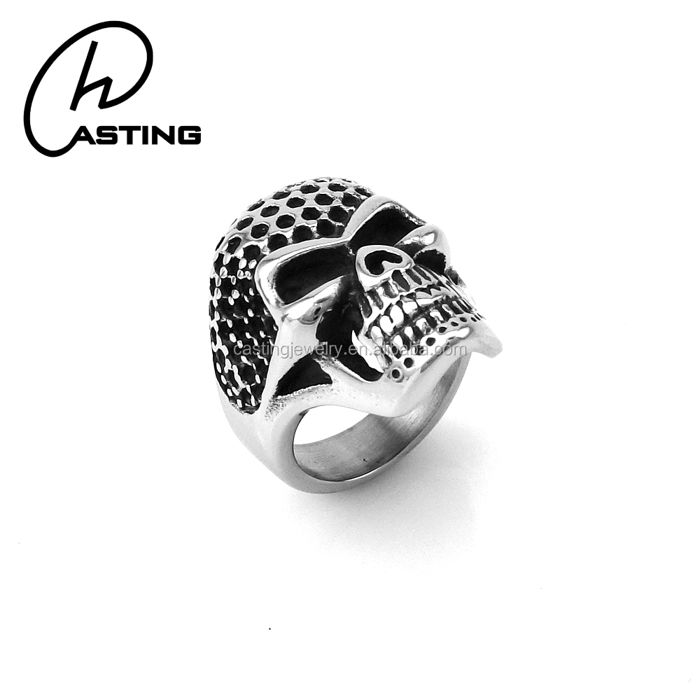 Stainless Steel Jewelry Factory Custom Sugar Skull Ring Men
