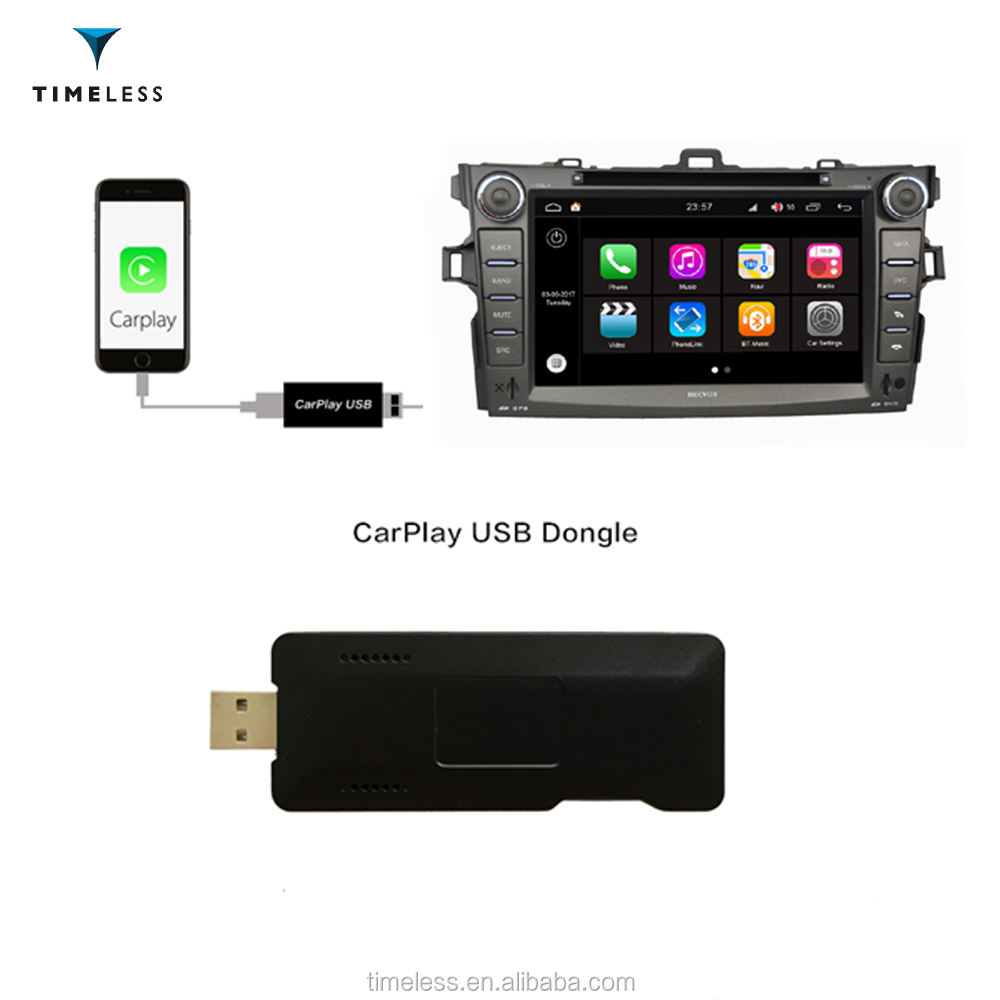 Timelesslong CarPlay USB Dongle for Android Car DVD GPS player with Touch Screen Control Support Android 5.1 6.0 7.1 TID-5