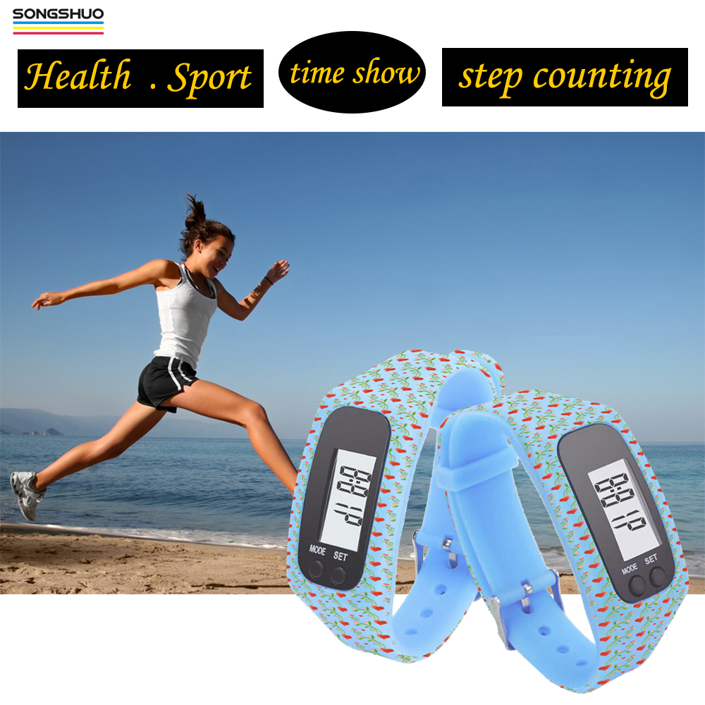 Hot Selling silicone rubber Band Fitbit sep counting Bracelet/ Wristband Pedometer watch